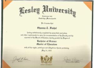 B.S./M.Ed Lesley University