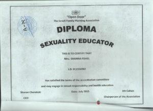 Sexuality Educator - Open Door - Israel